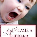 7 Tips To Tame a Toddler Tantrum
