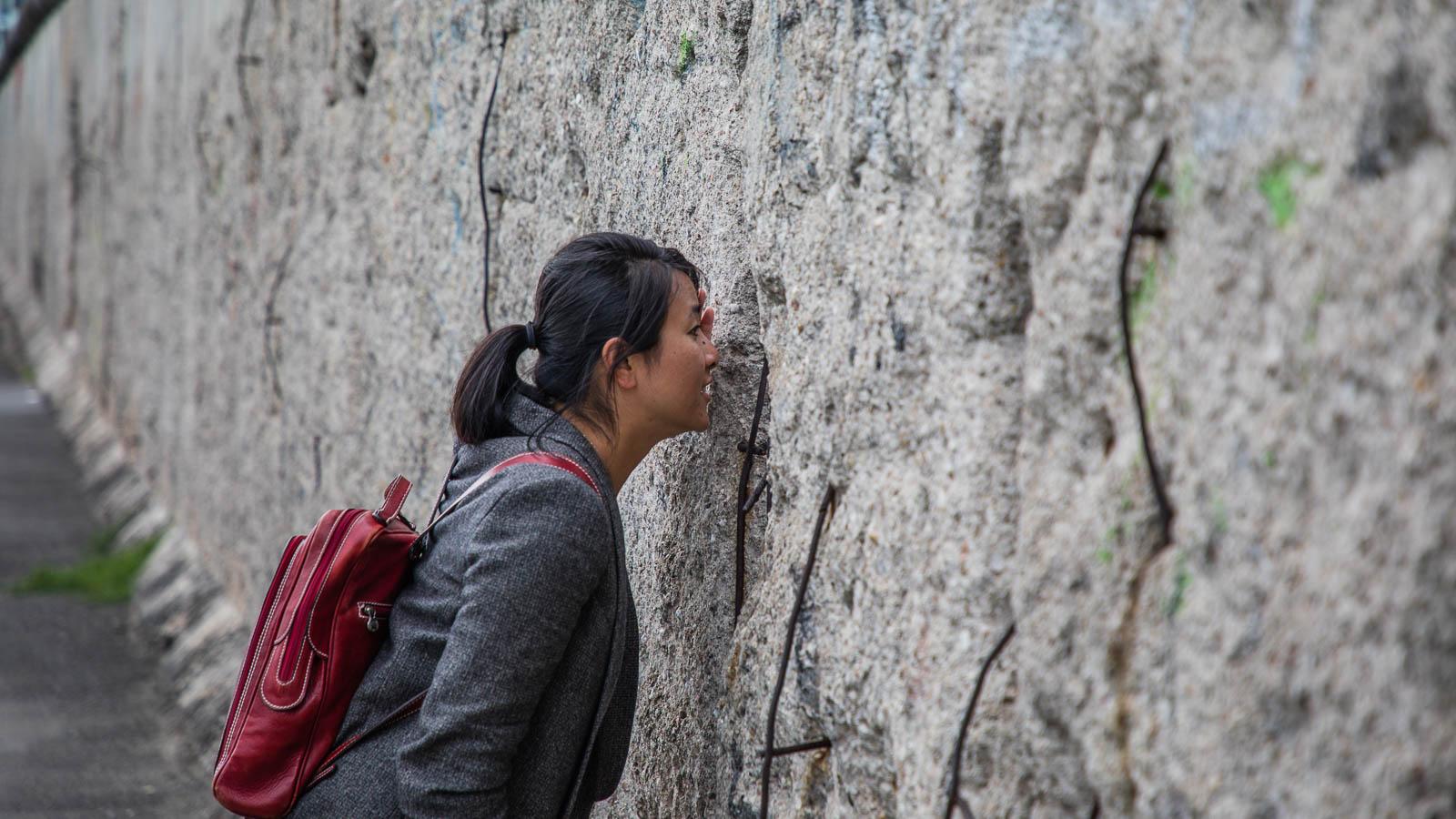 Peek through Berlin Wall