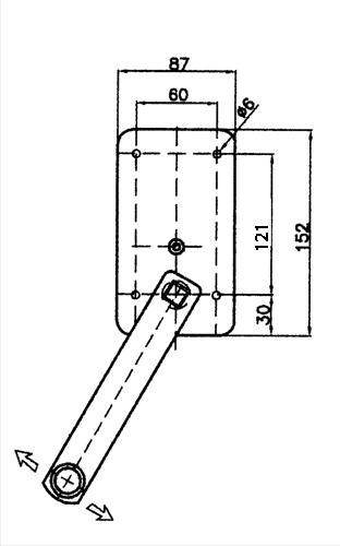 Verricello manuale per ombrelloni