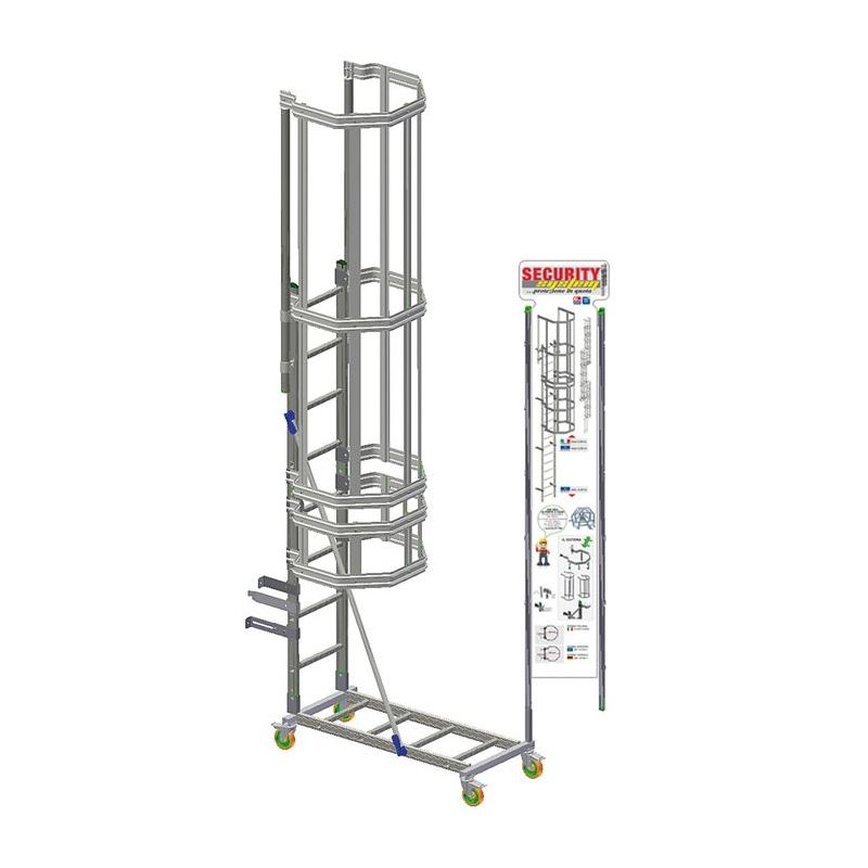 VERTICAL LADDER SECURITY SYSTEM STAND, Stands and Graphics