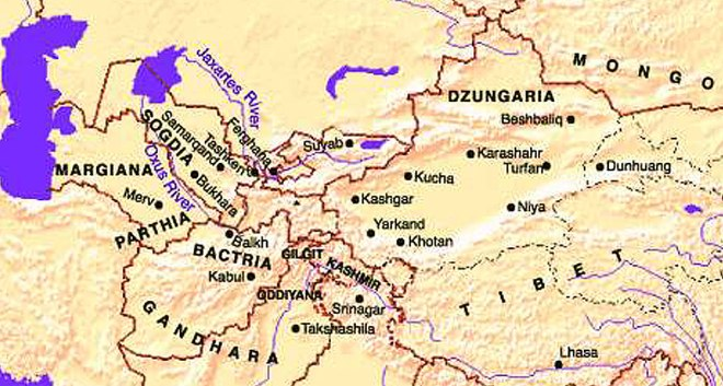 Image result for map of dzungaria