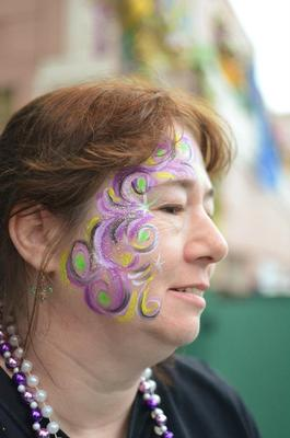 Mardi Gras Face and Body Painting