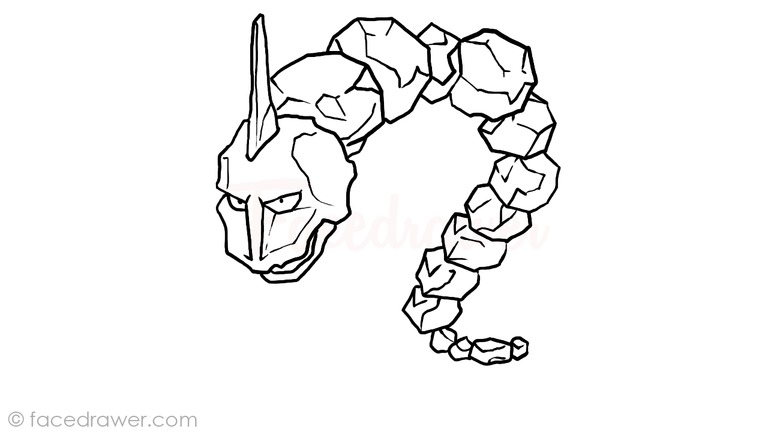 Onix Easy Step By Step Drawing Lesson Learn How To Draw