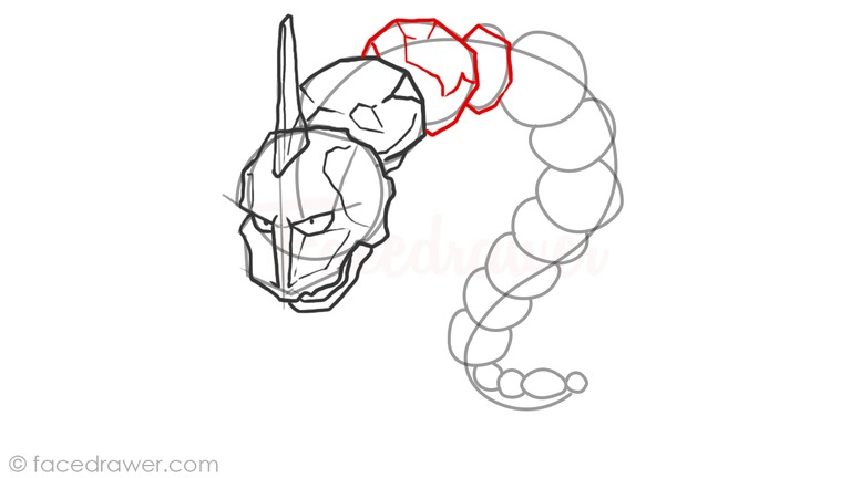 Onix Easy Step by Step Drawing Lesson. Learn How to Draw