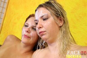 Face Fucking Annabel Harvey & Zara Ryan