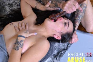 Facial Abuse Asian, But Not Asian Enough