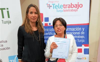 Habitantes de Tunja se certifican en teletrabajo