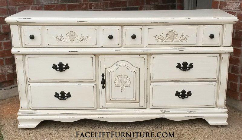 Refinished White Dresser  BestDressers 2019
