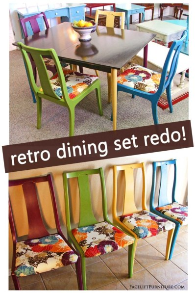 Retro Dining Set Re-Do! DIY Inspiration from Facelift Furniture!
