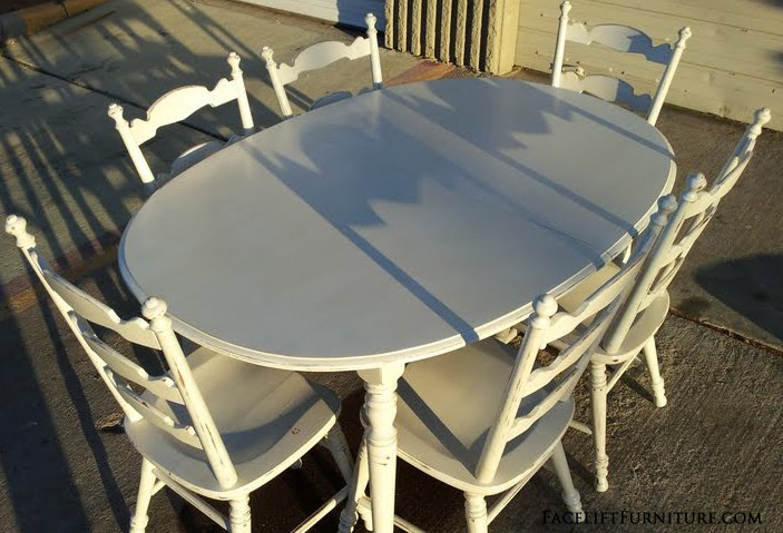 Antiqued White Maple Dining Set FLF