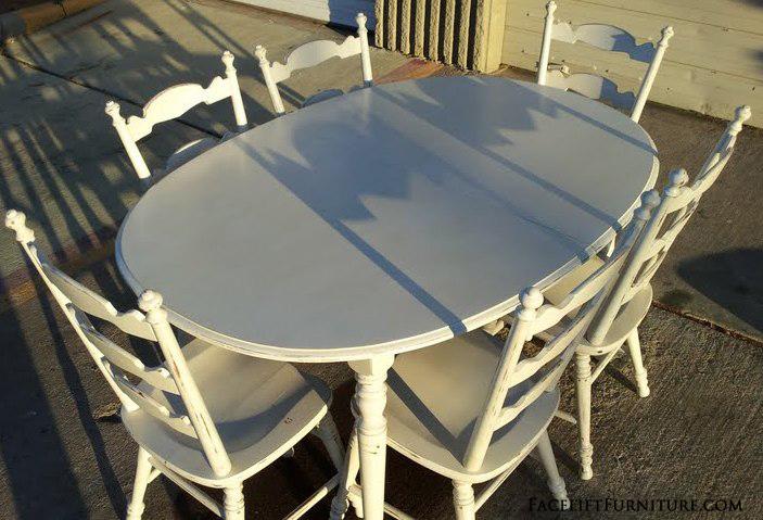 Antiqued White Maple Dining Set FLF