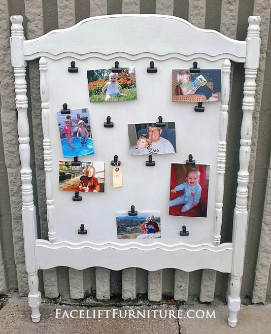 Crib Headboard White Photo Display