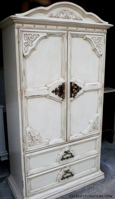 Off White Chunky Armoire Side