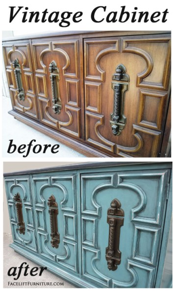 Vintage Cabinet Before & After