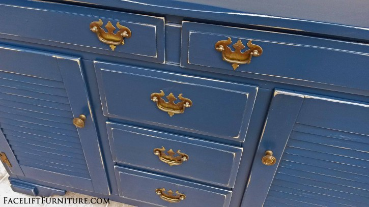 Denim Blue Maple Cabinet FLF