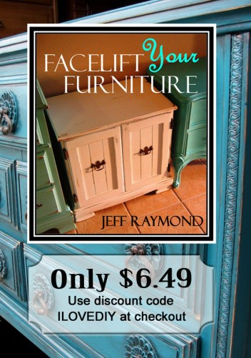 Facelift Your Furniture DIY eBook only $6.49 with coupon code ILOVEDIY