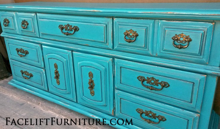 Turquoise Dresser Facelift Furniture