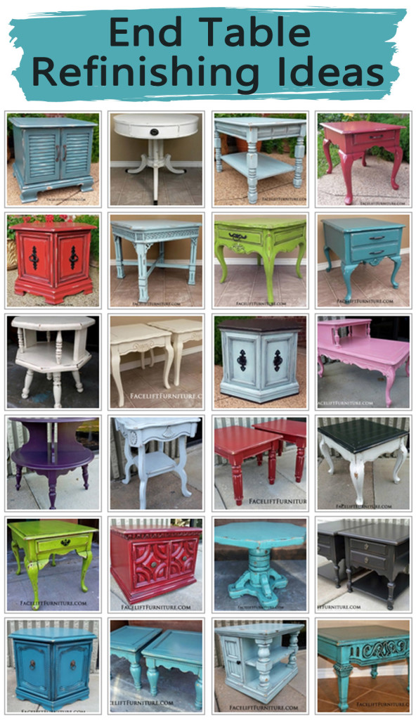 End Table Refinishing Ideas Facelift Furniture