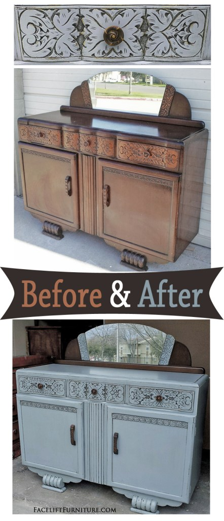 Grey English Buffet - Before & After