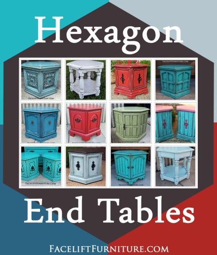 Of all the vintage furniture I refinish, hexagon end tables are my ...