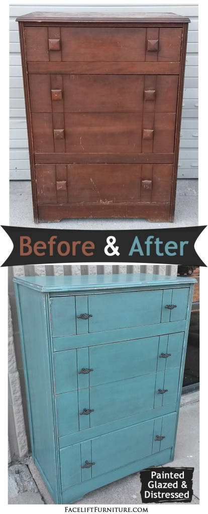 Sea Blue Chest - Before & After