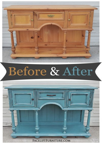 Sea Blue Console - Before & After