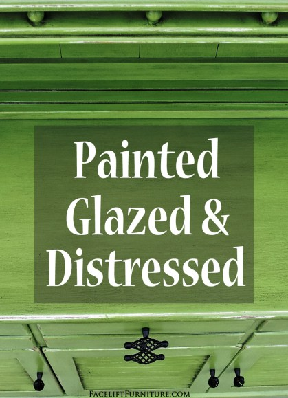 How color changes everything when you paint, glaze and distress vintage furniture. From Facelift Furniture.