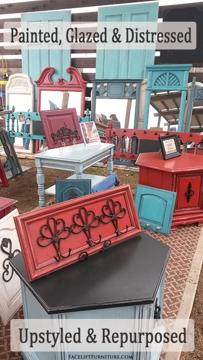 Paint Glaze & Distress to Upstyle & Repurpose  Retro Furniture