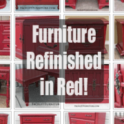 Furniture Refinished in Red! From Facelift Furniture's Color Collection.