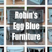 Robin's Egg Blue Refinished Furniture! From Facelift Furniture's Color Collection.
