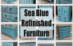 Sea Blue Refinished Furniture