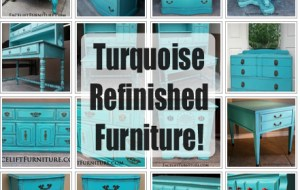 Turquoise Refinished Furniture