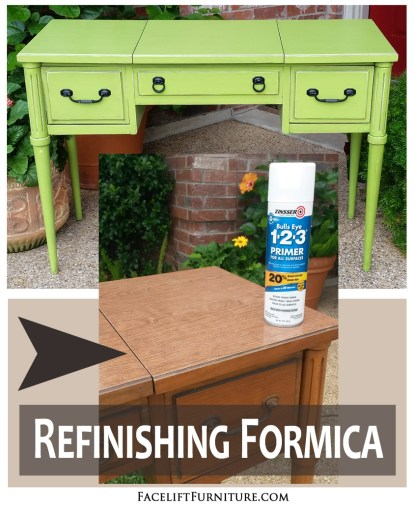 Refinishing Formica Furniture With Paint Glaze Distressing Facelift