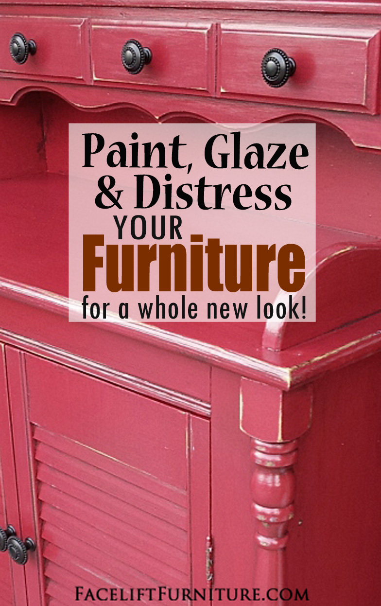 Paint Glaze Distressed Your Furniture U2013 Red Secretary