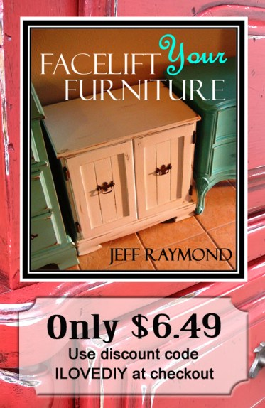 Learn to refinish your furniture with a painted, glazed and distressed look! Our step-by-step eBook will show you how. Only $6.49 with discount code ILOVEDIY!