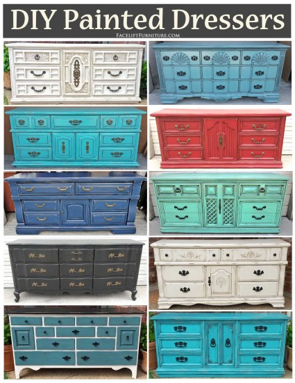 DIY paint, glaze, and distress your dresser! Inspiration and know how from Facelift Furniture.