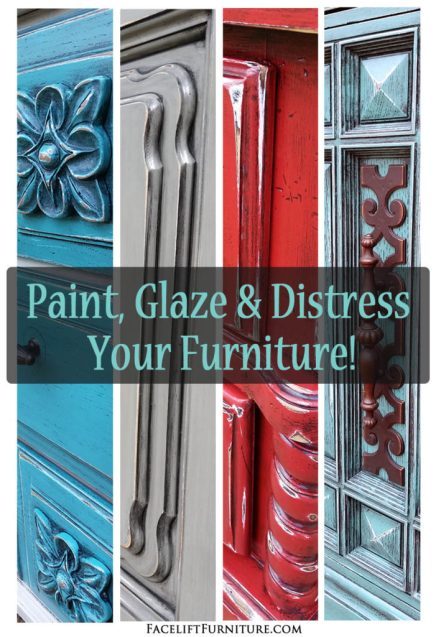 Paint, Glaze & Distressed Your Furniture For A Whole New Look!