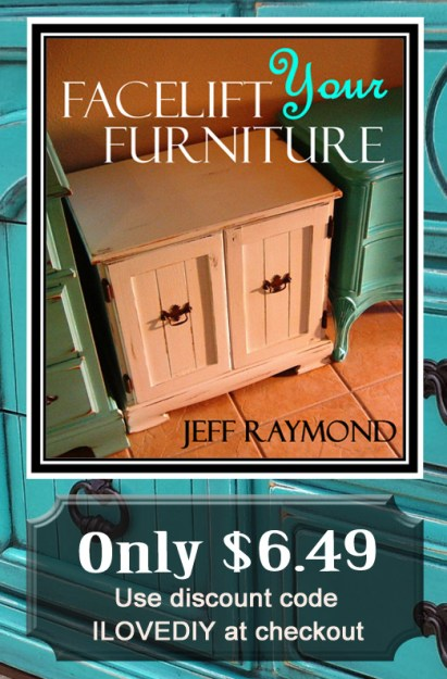 Our DIY eBook Facelift Your Furniture is only $6.49 with discount code ILOVEIDY!