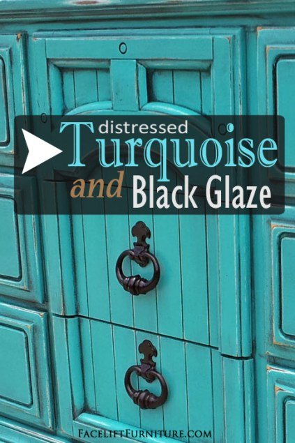 How Turquoise and Black Glaze Transform Weary Old Furniture