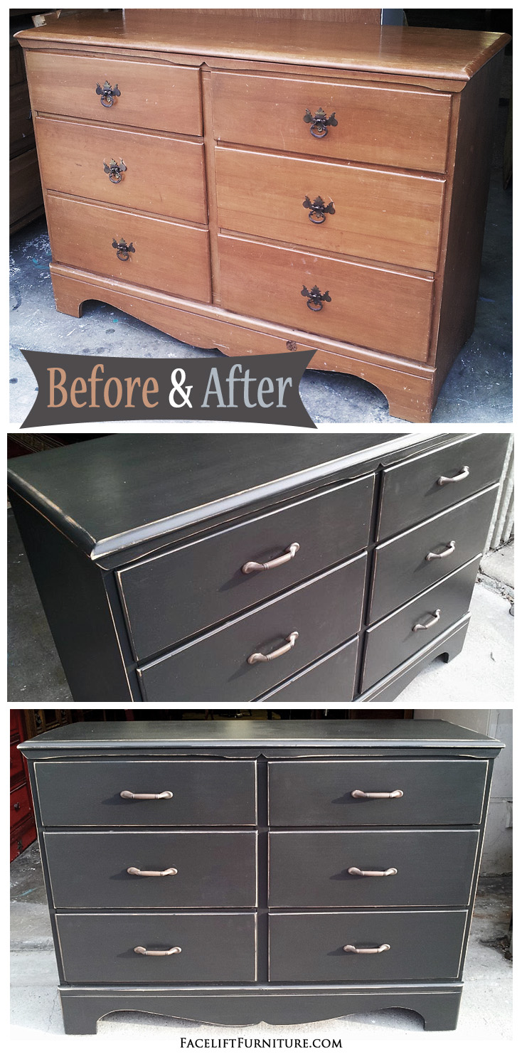 This simple maple dresser was given a classy new look with paint and  distressing. Facelift Furniture   Painted  Glazed   Distressed Furniture