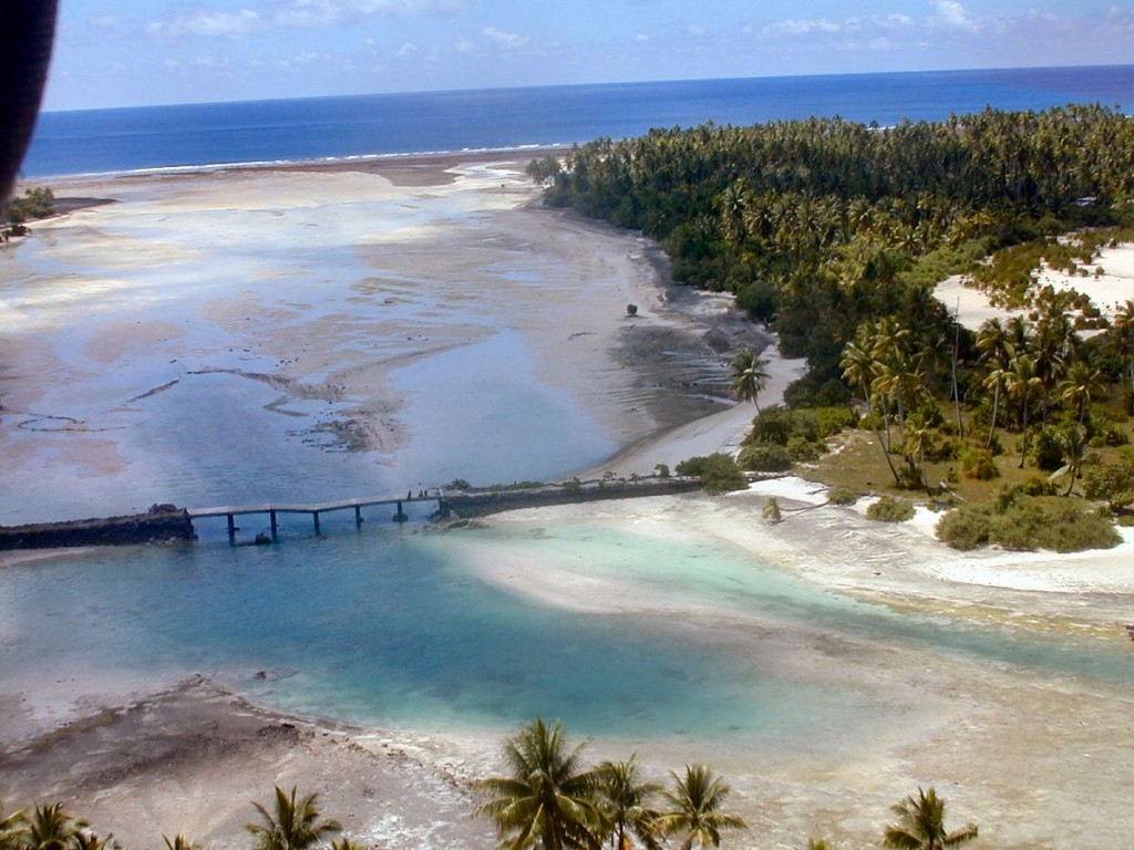 Kiribati Broken Bridge