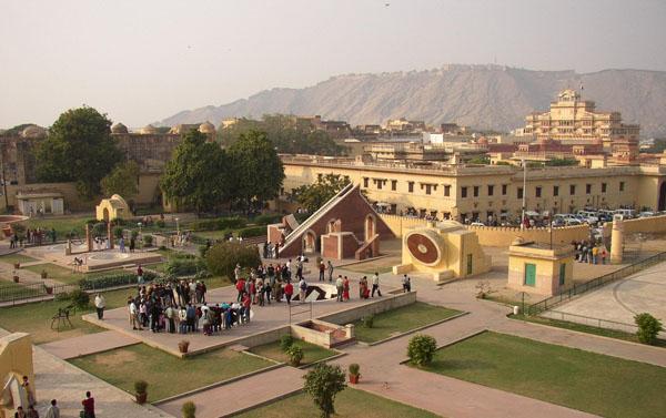 Jantar mantar built by Maharaj Jai Singh in the period 1727-1733 in jaipur