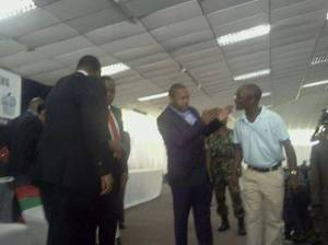 A moment please Ben: Chilima talks to Mutharika's personal aide, Ben Phiri