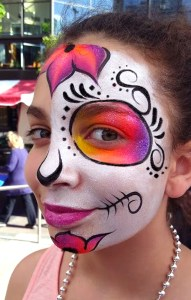 Face Painting Cinco DeMayo Cincinnati Fountain Square 2017