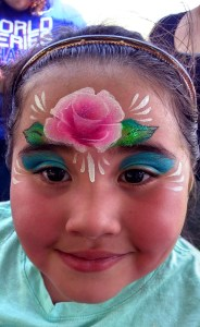 Columbus Commons- rose face painting- princess