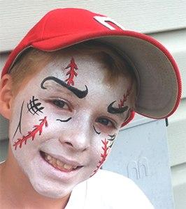 Cincinnati Reds Face Painting