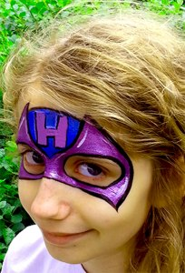 Hawk-Eye Avenger Face Painting Cincinnati