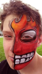 Pixar Movie Inside Out Anger Face Painting