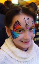 butterly jeweled face painting