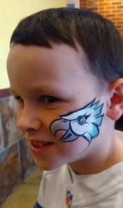 Super Bowl 2018 Eagles Logo face painting Cincinnati Ohio